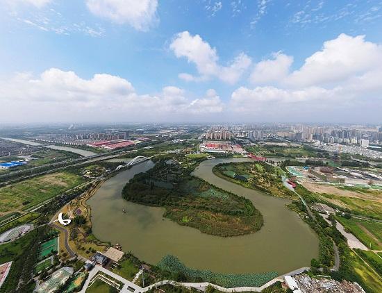 江苏扬州:生态湿地初秋时节秀美如画VCG111296599622.jpg